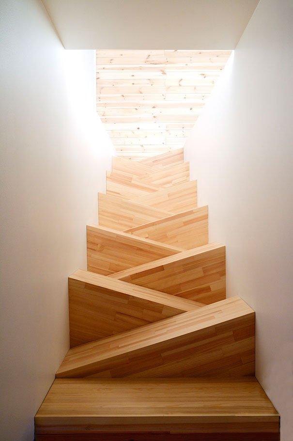 20 dise os de escaleras extraordinarias que deber as - Camas pegadas ala pared ...